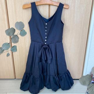 ワンピース パーティードレス 紺色ドレス9号 結婚式
