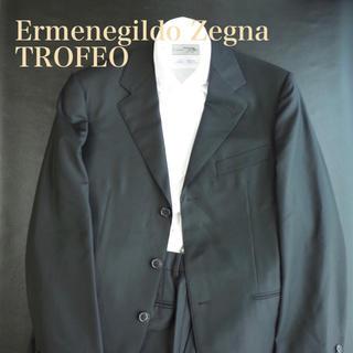 エルメネジルドゼニア(Ermenegildo Zegna)の【最高級生地】エルメネジルド・ゼニア スーツ TROFEO 46 黒(セットアップ)