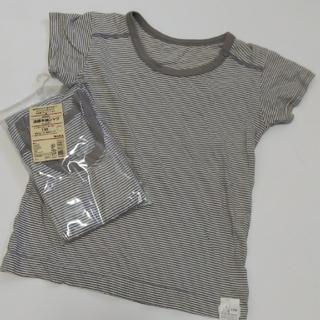 MUJI (無印良品) - 新品&USED 110 無印良品 涼感半袖シャツ 下着 肌着 2枚セット