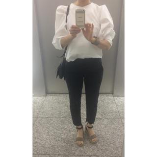 Drawer - 美品 白 ブラウス バックボタン ドゥロワー  セリーヌ  好きな 韓国ブランド