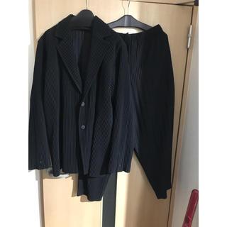 ISSEY MIYAKE - homme plissé issey miyake 定番セットアップ 黒