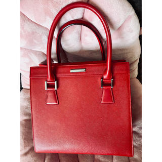 BURBERRY - バーバリー カーフハンドバッグ 落ち着いた赤 Burberry red bag