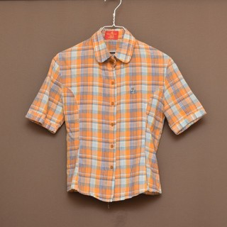 Vivienne Westwood - ヴィヴィアンウエストウッド 半袖シャツ 丸襟 チェックシャツ