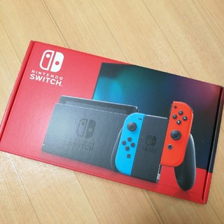ニンテンドースイッチ(Nintendo Switch)の専用新品 任天堂Switch スイッチ 本体 ネオンレッド ニンテンドー 新型(家庭用ゲーム機本体)