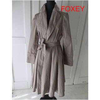 フォクシー(FOXEY)のフォクシー ベルト付ナイロンコート 40(トレンチコート)