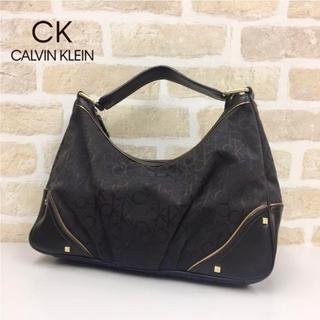 カルバンクライン(Calvin Klein)の定価1.5万/1回使用 カルバンクライン ハンドバッグ ジャガード×レザー(ハンドバッグ)