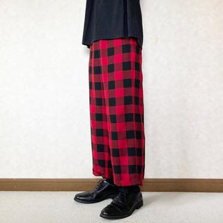 アンユーズド(UNUSED)のgingham-check pajama pants(スラックス)