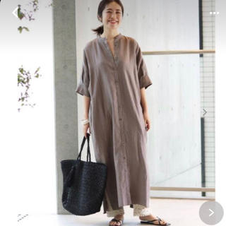 IENA - IENA リネンバンドカラーシャツワンピース サイズ38 美品