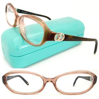 ティファニー(Tiffany & Co.)のティファニー シルバーモチーフ×ブラウン メガネ 上品 可愛い♪バイカラー(サングラス/メガネ)