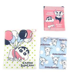 クレヨンしんちゃん  巾着3枚セット 風船  日本製(ランチボックス巾着)