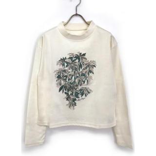 ロイスクレヨン(Lois CRAYON)のモックネック刺繍T(カットソー(長袖/七分))