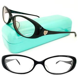 ティファニー(Tiffany & Co.)のティファニー 黒縁×シルバーハート♡メガネ 上品 可愛い♪ブラック(サングラス/メガネ)