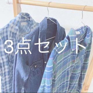CECIL McBEE - シャツ 3点セット 古着 チェックシャツ デニムシャツ デニムジャケット