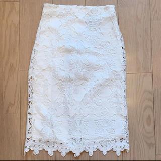 エイチアンドエム(H&M)のH&M レーススカートXS(ひざ丈スカート)
