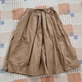 MUJI (無印良品) - 無印良品 ギャザースカート ブラウン
