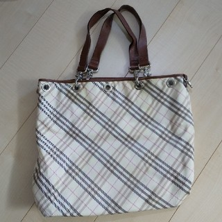 BURBERRY BLUE LABEL - BURBERRY トートバッグ 中古品