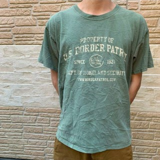 アメリカンビンテージ 古着 Tシャツ カーキ US ミリタリー ロゴ(Tシャツ/カットソー(半袖/袖なし))