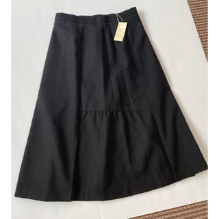 アウィーエフ(AuieF)のフレアスカート 黒(ひざ丈スカート)