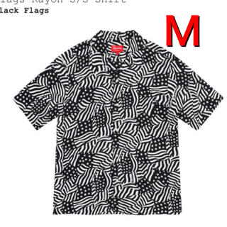 Supreme - Supreme Flags Rayon S/S Shirt Black M