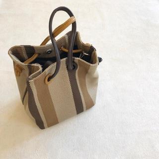 アリエス(aries)の完売 ストライプtote bag aries mirage アリエスミラージュ(ハンドバッグ)