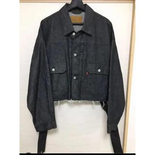JOHN LAWRENCE SULLIVAN - neonsign unfinished jacket ブラック