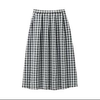 ムジルシリョウヒン(MUJI (無印良品))の無印良品 ギンガム スカート(ロングスカート)