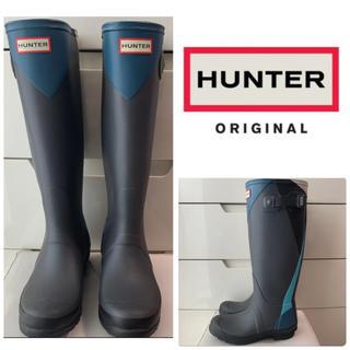 ハンター(HUNTER)のハンター オリジナルトール ネイビーラバー デザイン レインブーツ(レインブーツ/長靴)