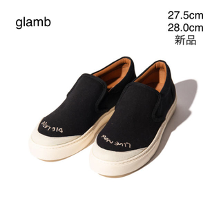 グラム(glamb)の新品/グラム glamb/スリッポン/黒 ブラック/④/27.5㎝、28㎝(スリッポン/モカシン)