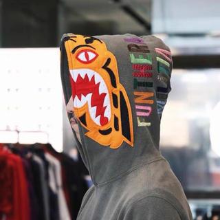 アベイシングエイプ(A BATHING APE)のbape hooded sweatshirt XL 美品(スウェット)