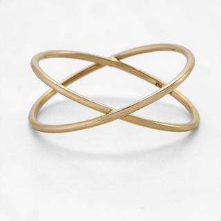 ノジェス(NOJESS)のNOJESS 10k クロス ピンキーリング(リング(指輪))