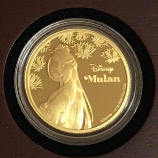 ディズニー(Disney)のムーラン 1/4オンス金貨プルーフ 2016年ニウエ発行 ディズニープリンセス(貨幣)