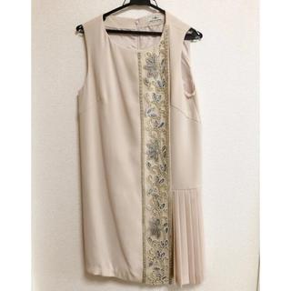 GRACE CONTINENTAL - グレースコンチネンタル ビジュープリーツドレス