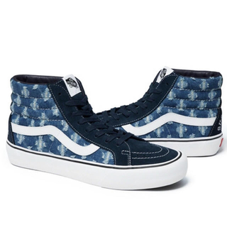 Supreme - Supreme Vans Hole Punch Denim Sk8-Hi 9.5