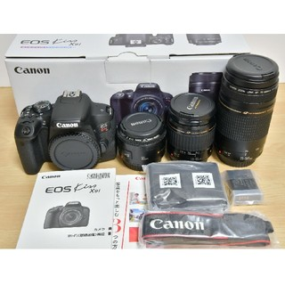 Canon - Canon EOS kiss x9i 標準&望遠&単焦点レンズセット