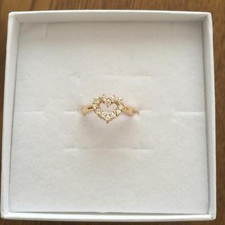 ハート  k18  指輪 リング キュービックジルコニア  ダイヤお好きな方(リング(指輪))