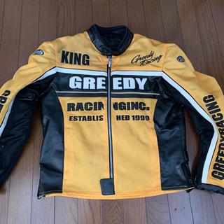 GREEDY グリーディー ライダース ジャケット イエロー メッシュ Lサイズ
