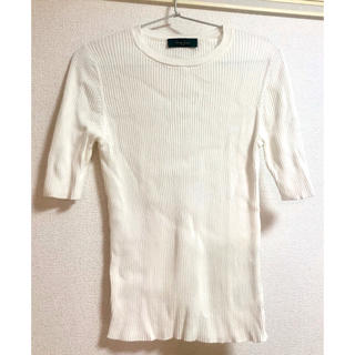 デミルクスビームス(Demi-Luxe BEAMS)のbeams  リブニット 半袖(ニット/セーター)