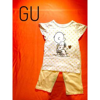 ジーユー(GU)の【スヌーピー♡】パジャマ 黄色 半袖 夏(パジャマ)