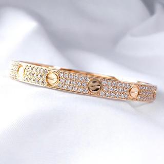 Cartier - 【保証書付】カルティエ ラブブレス 新型 PG 16 ダイヤ ブレスレット