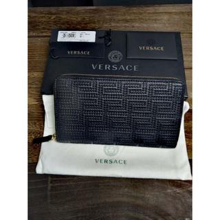 ヴェルサーチ(VERSACE)の新品 VERSACE ヴェルサーチ 長財布 ラウンドジップ メンズ  ブラック(長財布)