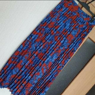 titivate - ティティベイト 花柄スカート プリーツスカート ロングスカート
