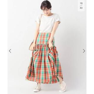 イエナ(IENA)の【IENA】マドラスチェックマキシスカート 34(ロングスカート)
