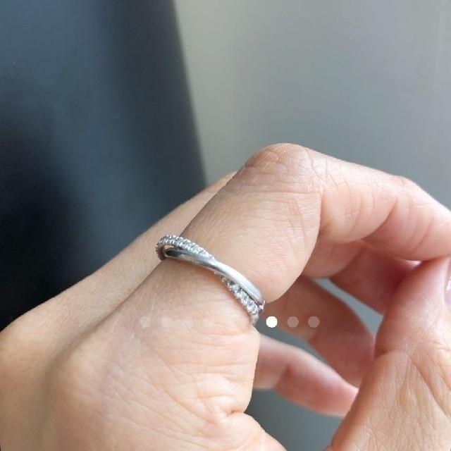 AHKAH(アーカー)のAHKAH トゥーオブアス  プラチナ レディースのアクセサリー(リング(指輪))の商品写真