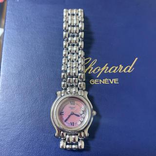 ショパール(Chopard)のショパール ハッピースポーツ ダイヤ5P ピンクシェル(腕時計)