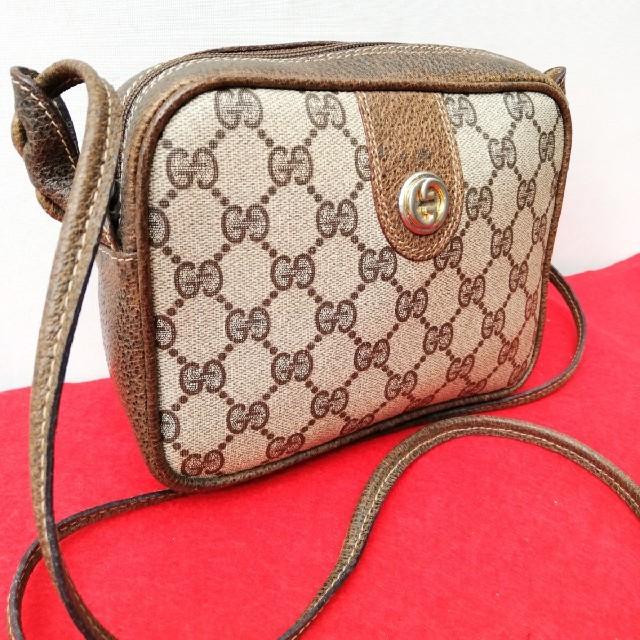 Gucci(グッチ)の良品 Gucci グッチ GG柄ショルダーバッグ ポシェット オールドグッチ レディースのバッグ(ショルダーバッグ)の商品写真