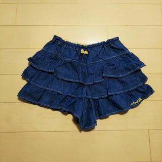 TINKERBELL - 130cm ティンカーベルのデニム風キュロットスカート