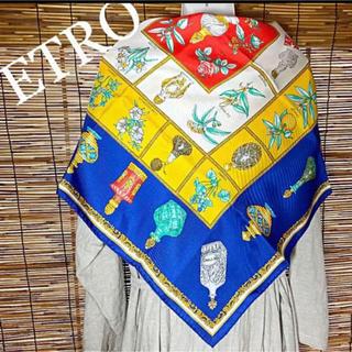 エトロ(ETRO)の未使用品 エトロ 香水 シルク 大判スカーフ(バンダナ/スカーフ)