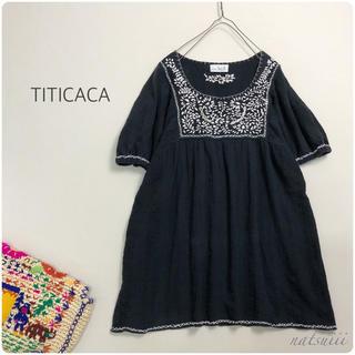 titicaca - チチカカ . 刺繍 チュニック プルオーバー ブラウス インド製