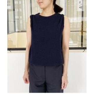 アパルトモンドゥーズィエムクラス(L'Appartement DEUXIEME CLASSE)のアパルトモン  AMERICANA Thermal N/S TOP ネイビー(Tシャツ(半袖/袖なし))