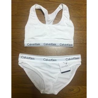 Calvin Klein - ショーツ新古品 Calvin Kleinホワイトアンダーウェア セットアップ S